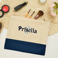 Name&Initial #3 Personalized Navy Clutch