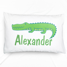 Alligator Personalized Name Pillowcase