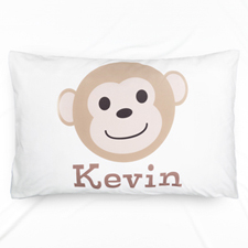 Monkey Personalized Name Pillowcase