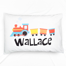 Steam Train Personalized Pillowcase
