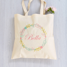 Floral Personalized Tote Bag For Bridesmaids