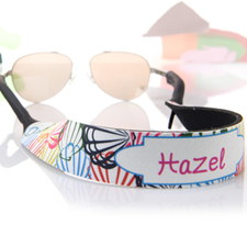 Multi Color Shells Personalized Sunglass Strap