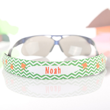 Chevron Palm Tree Personalized Sunglass Strap