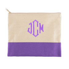 Personalized Embroidered--3 Initials-- Purple
