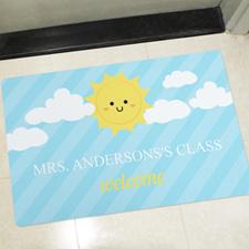 Sunshine Personalized Classroom Doormat Teacher Appreciation Gift
