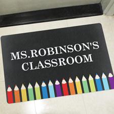 Chalkboard Personalized Classroom Doormat Teacher Appreciation Gift