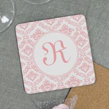 Pink Personalized Cork Coaster