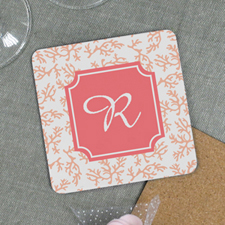 Reef Personalized Cork Coaster