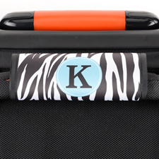Zebra Print Personalized Luggage Handle Wrap