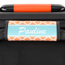 Orange Clover Personalized Luggage Handle Wrap