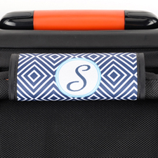 Navy Ikat Personalized Luggage Handle Wrap