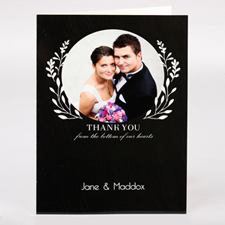 Personalized Thank You From Bottom Of Our Hearts Photo Card For Wedding