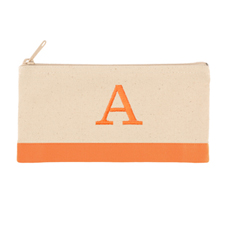 2 Tone Orange Personalized Embroidered One Initial Small (Single Side)
