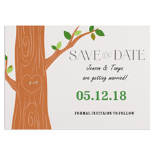 Love Tree Personalized Save The Date Card