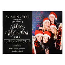 Wishing You Personalized Photo Christmas Card