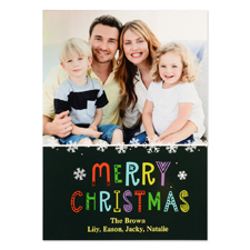Snowflake Christmas Personalized Photo Card