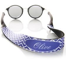 Purple Chevron Monogrammed Sunglass Strap