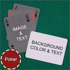 Poker Size Simple Bridge Style Personalized Message Custom 2 Sides Landscape Back