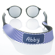 Purple Stripe Monogrammed Sunglass Strap