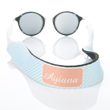 Light Blue Stripe Monogrammed Sunglass Strap