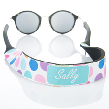 Colorful Dot Monogrammed Sunglass Strap