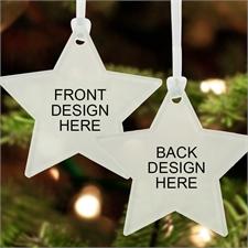 Custom Full Color Acrylic Ornament Star Shape