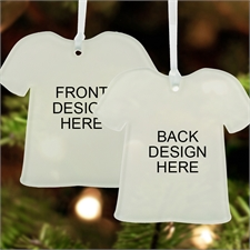 Custom Full Color Print Acrylic Ornament T Shirt Shape