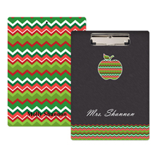 Chalkboard Chevron Apple Personalized Clipboard For Teacher