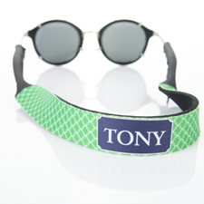 Green Interlocking Circle Monogrammed Sunglass Strap
