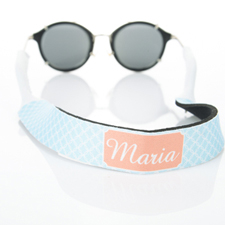 Light Blue Interlocking Circle Monogrammed Sunglass Strap