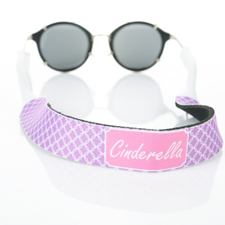 Lavender Interlocking Circle Monogrammed Sunglass Strap