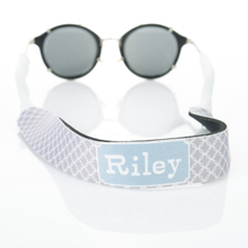 Grey Interlocking Circle Monogrammed Sunglass Strap