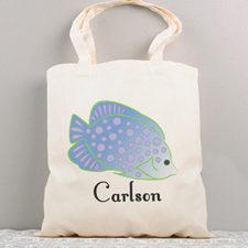 Tropical Fish Personalized Summer Cotton Tote Bag