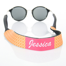 Orange Circle Monogrammed Sunglass Strap