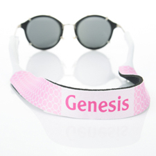 Pink Circle Monogrammed Sunglass Strap