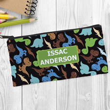 Dinosaurs Personalized Pencil Bag