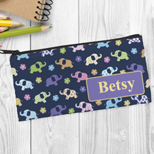 Elephant Personalized Pencil Bag