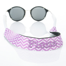 Lavender Chevron Embroidery Monogrammed Sunglass Strap Croakies