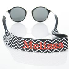 Black Chevron Embroidery Monogrammed Sunglass Strap Croakies