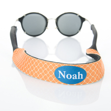 Orange Clover Custom Monogram Sunglass Strap