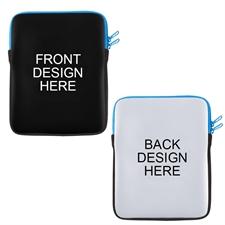 Print Your Design 2 Side Ipad Sleeve Blue Zipper