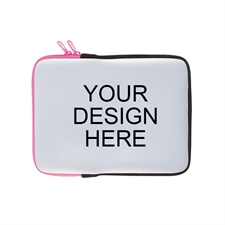 Print Your Design Ipad Sleeve Landscape Hot Pink Zipper