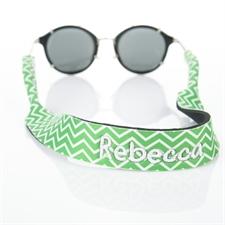 Green Chevron Embroidery Sunglass Strap