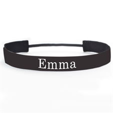 Black Personalized 1 Inch Non-Slip Athletic Headband
