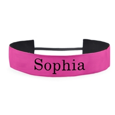Hot Pink Personalized Message 1.5 Inch Headband