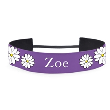 Purple Daisy Personalized 1.5 Inch Headband