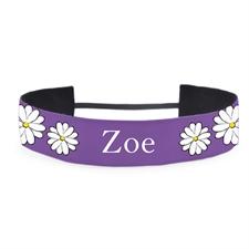 Purple Daisy Personalized 1.5 Inch Headband