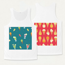 Custom Full Color Print Unisex Tank Top (Front And Back) (Medium)