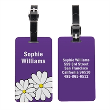 Daisy Personalized Aluminum Luggage Tag