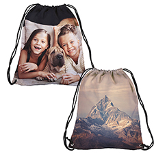 Personalized Photo All Over Print Drawstring Backpack, Large